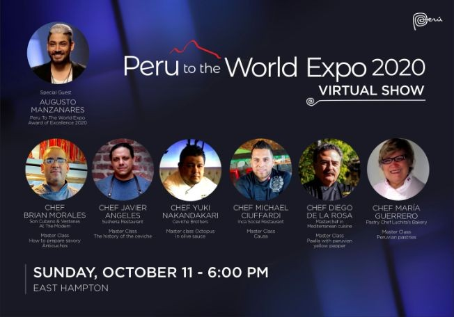 Flyer for 9th Peru To The World Expo - virtual show