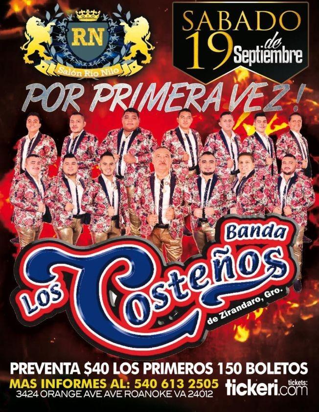 Flyer for Por primera vez Los Costeños de Zirandaro Guerrero en Vivo!
