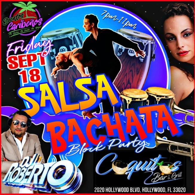Flyer for Salsa n Bachata Block Party