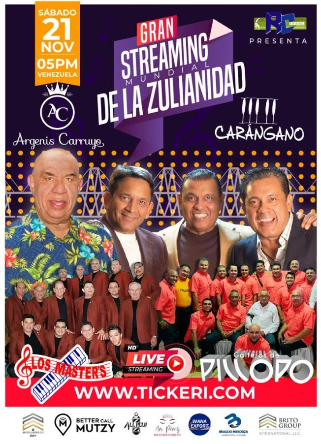 Flyer for GRAN STREAMING MUNDIAL DE LA ZULIANIDAD