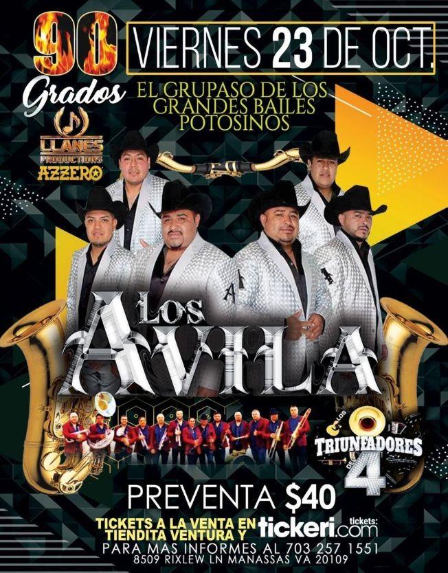 Flyer for Gran Baile Potosino con Los Avila y Los Triunfadores del 4 en Vivo!