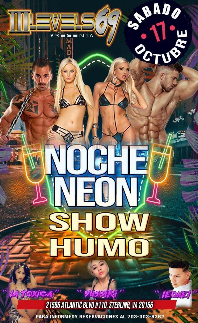 Flyer for Neon Party / Show de Humo