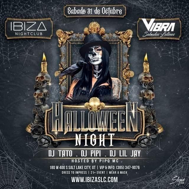 Flyer for Halloween Night at Ibiza Nightclub!