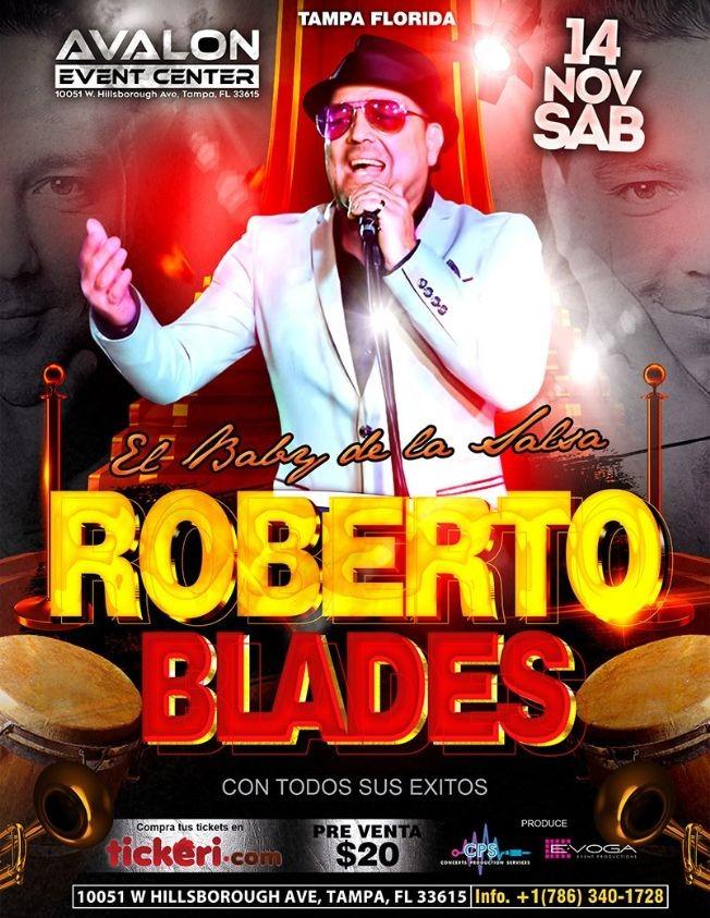 Flyer for Roberto Blades en Concierto