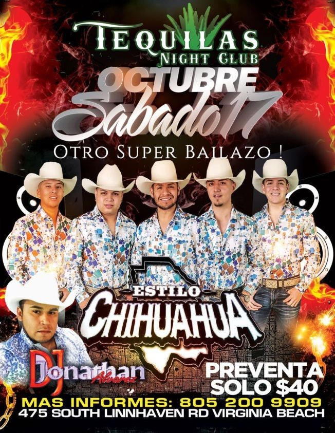 Flyer for Otro Super Bailazo con Estilo Chihuahua en Vivo!