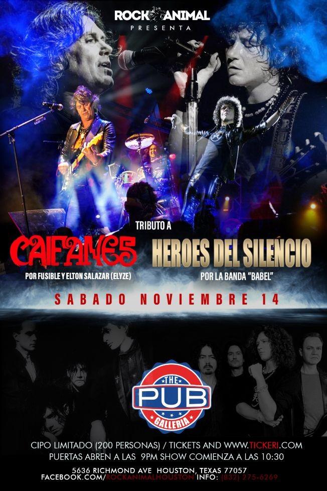 Flyer for Tributo Caifanes/ Heroes del Silencio