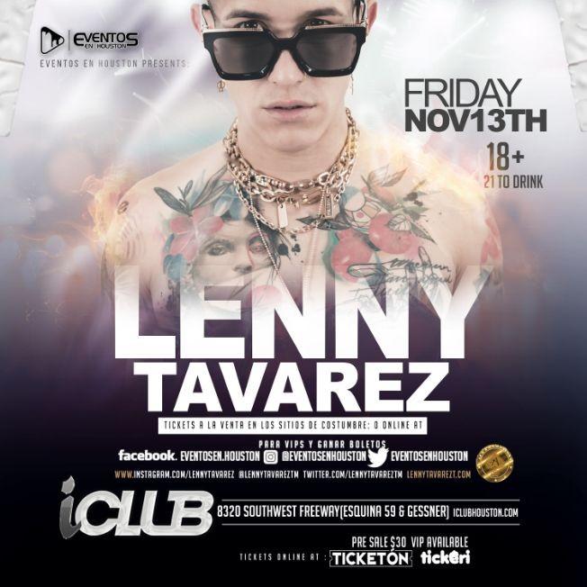 Flyer for Lenny Tavarez