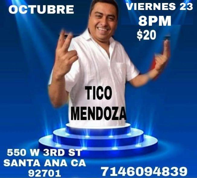 Flyer for Tico Mendoza / Noche de Comedia