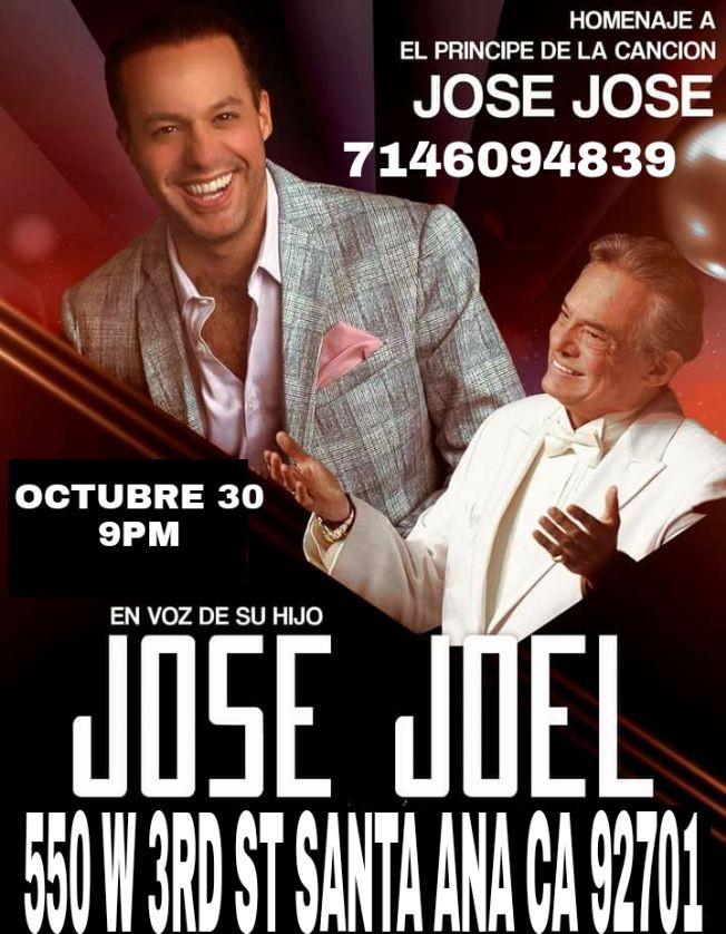 Flyer for Homenaje a Jose Jose con Jose Joel
