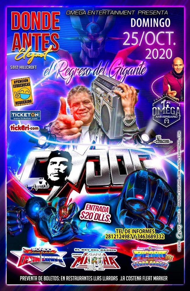 Flyer for El Regreso del Gigante Sonido Condor en Houston!