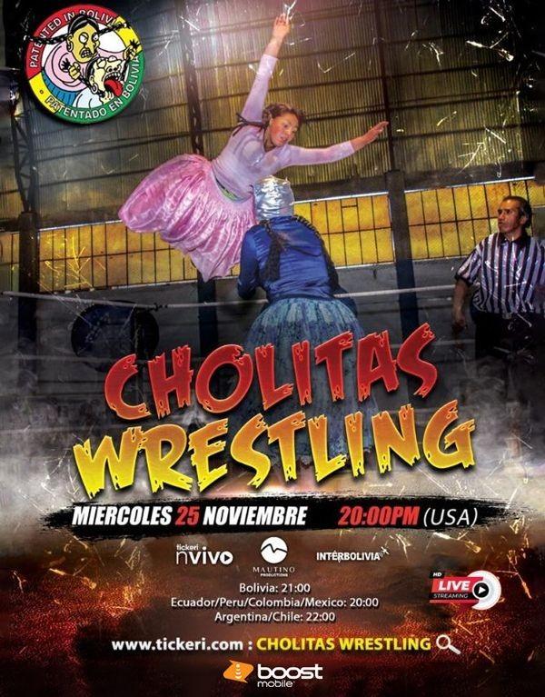 Flyer for Cholitas Wrestling