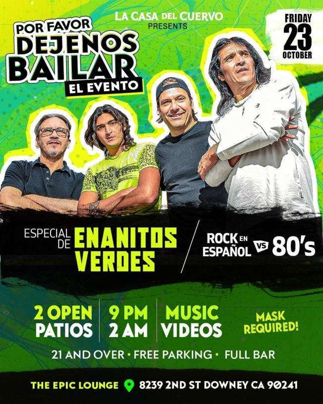 Flyer for Especial de Enanitos Verdes en La Casa del Cuervo!