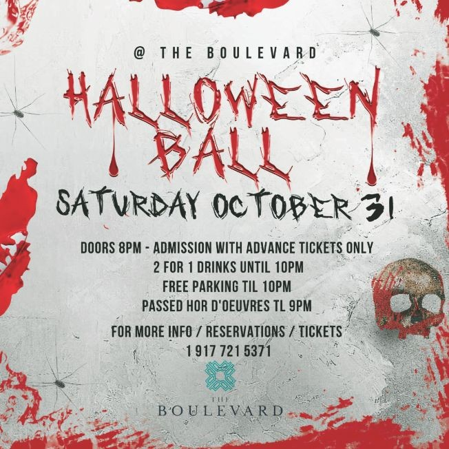 Flyer for Halloween ball