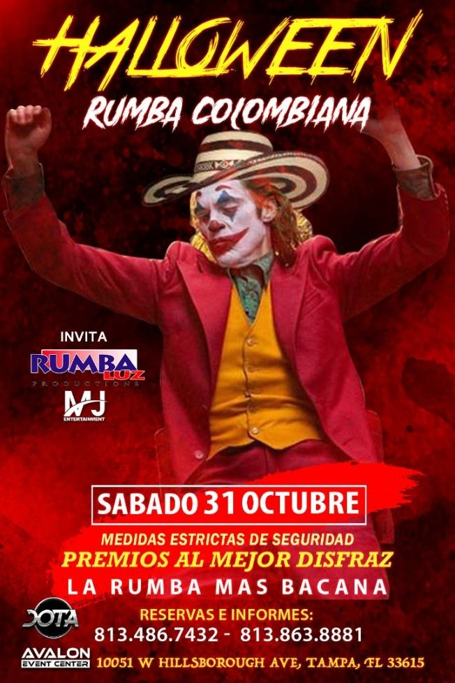 Flyer for RUMBA COLOMBIANA: HALLOWEEN RUMBA