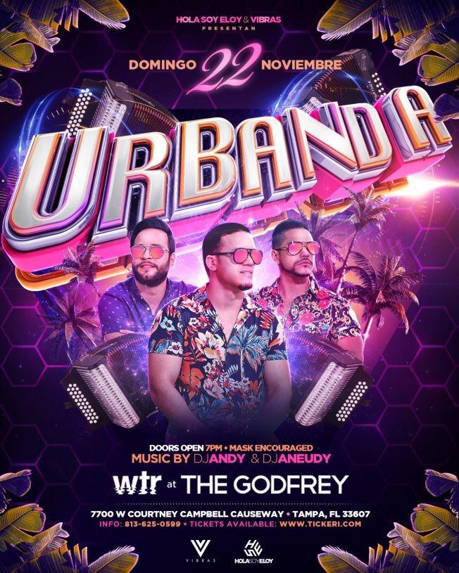 Flyer for Urbanda live en Tampa