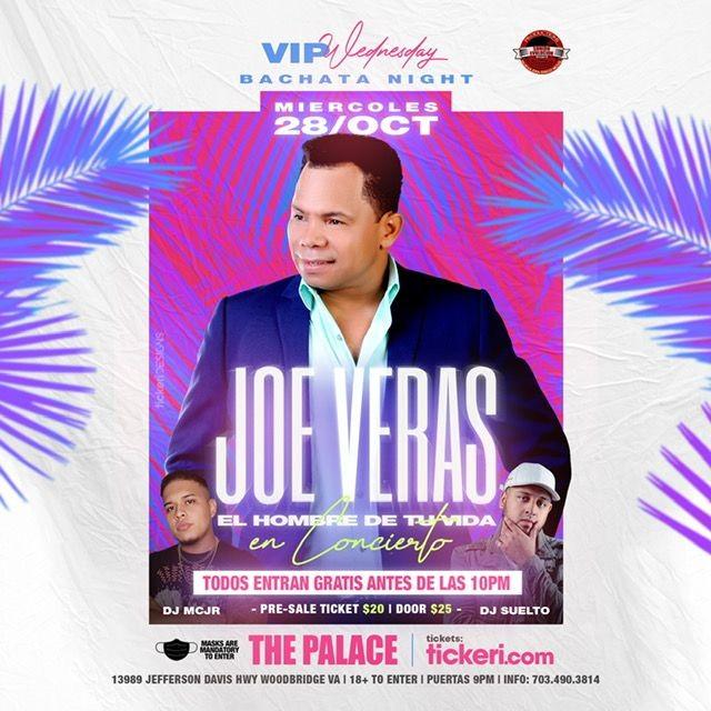 Flyer for Joe Veras - CONCIERTO EN VIVO
