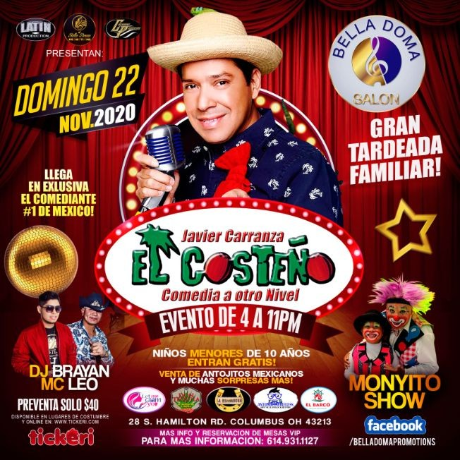 """Flyer for Comedia a otro nivel con """"El Costeño"""""""