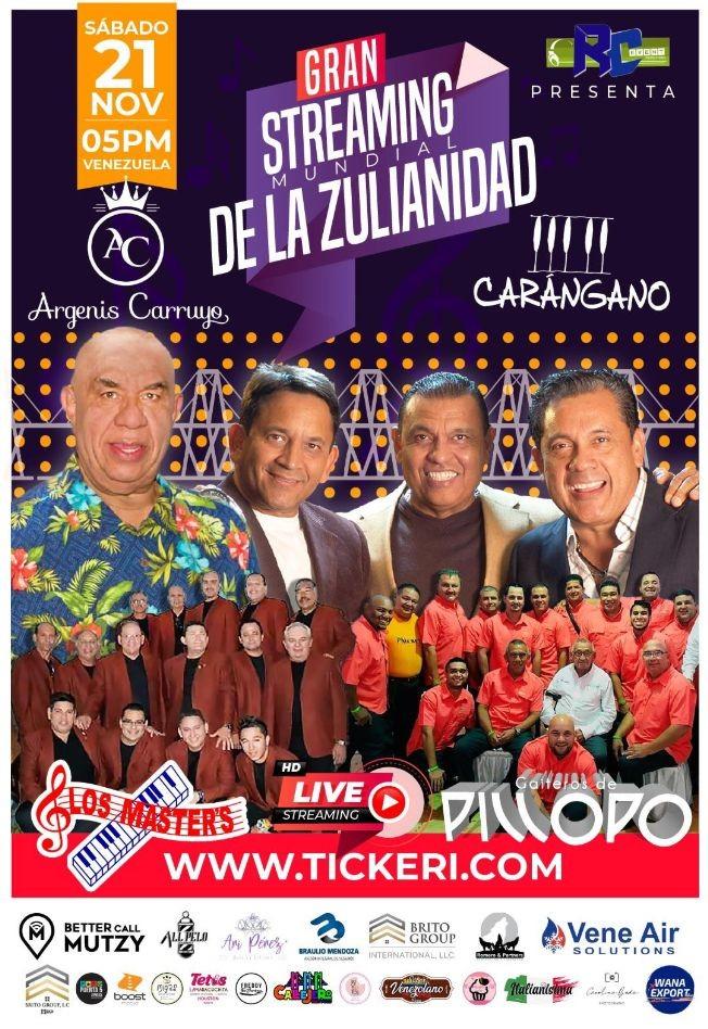 Flyer for GRAN STREAMING MUNDIAL DE LA ZULIANIDAD