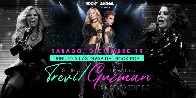 Flyer for Tributo a Las Divas del Rock Pop
