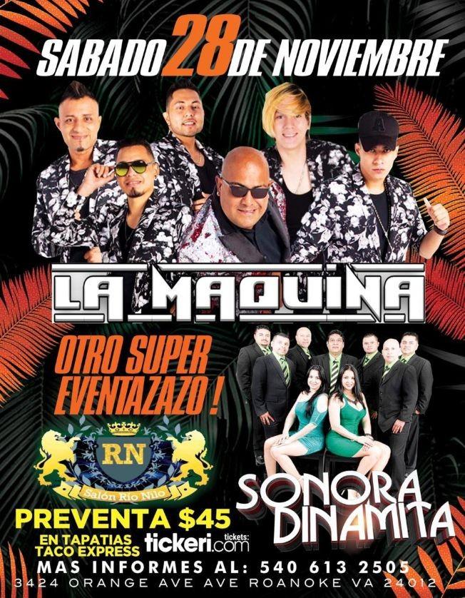 Flyer for Otro Super Evento con La Maquina y La Sonora Dinamita en Vivo! postponed