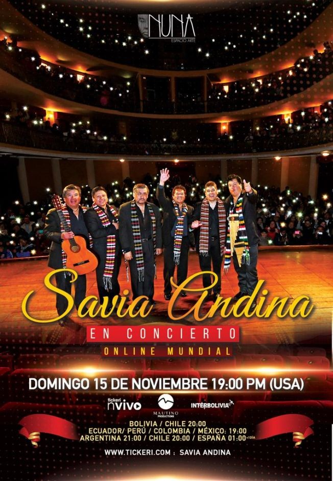 Flyer for SAVIA ANDINA EN VIVO