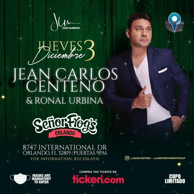 Flyer for Jean Carlos Centeno en Orlando