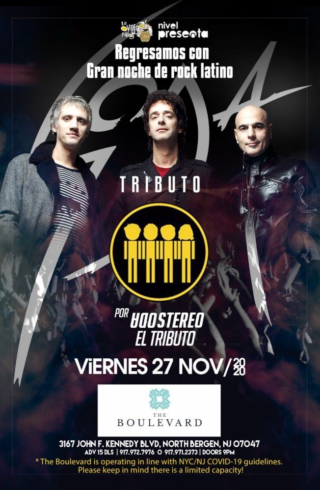 Flyer for Soda Stereo el Tributo CANCELED