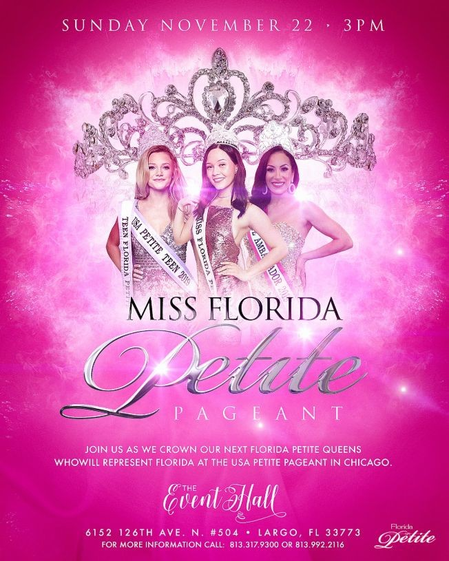 Flyer for Florida Petite Pageant
