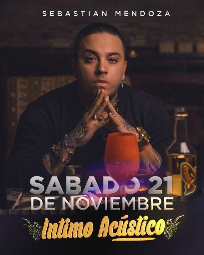 Flyer for Sebastian Mendoza en Concierto Intimo Acustico Virtual en Vivo!