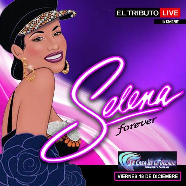 "Flyer for SELENA FOREVER ""EL TRIBUTO LIVE"" MIAMI"