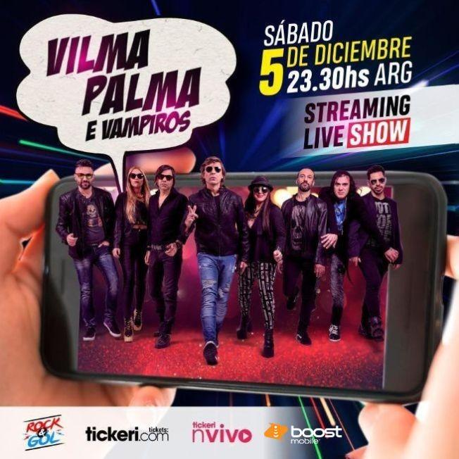 Flyer for Vilma Palma e Vampiros en Concierto Virtual en Vivo!