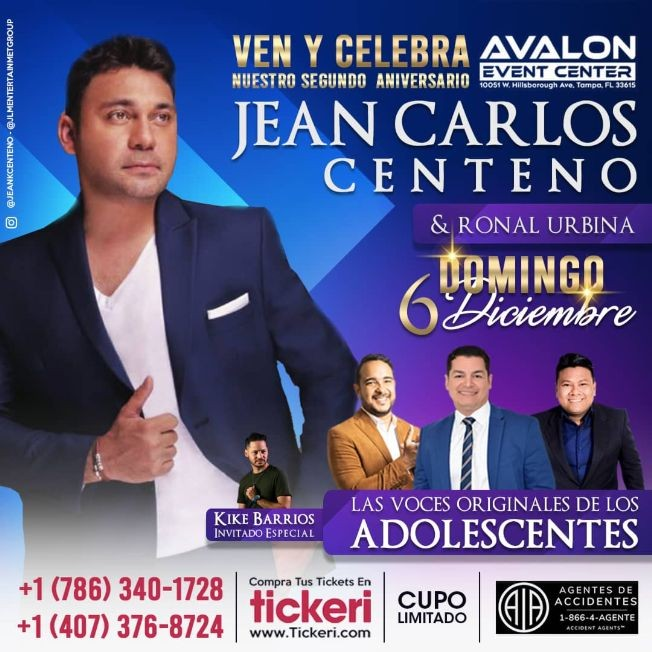 Flyer for JEAN CARLOS CENTENO TAMPA