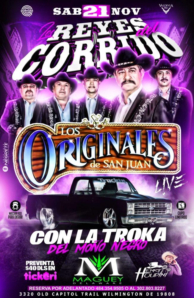 Flyer for Los Originales de San Juan en Maguey