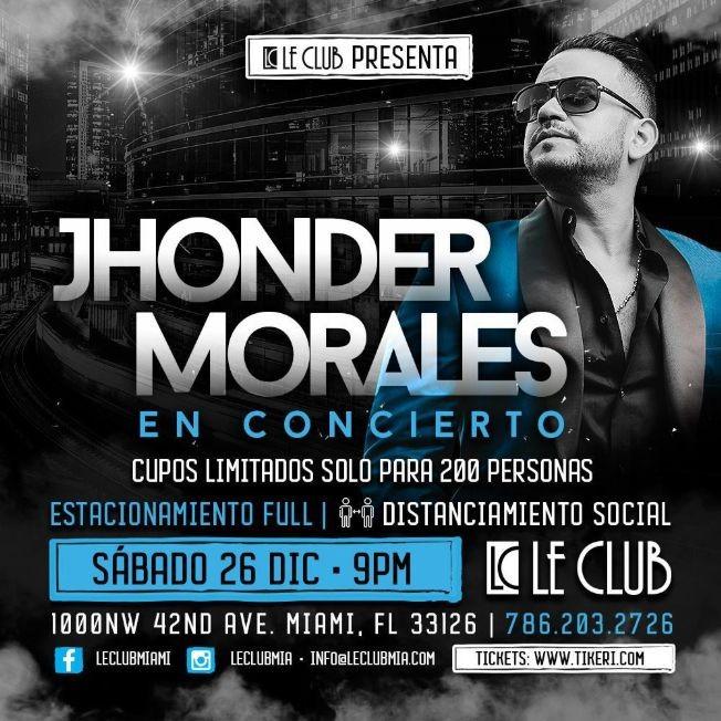 Flyer for Jhonder Morales en Concierto!