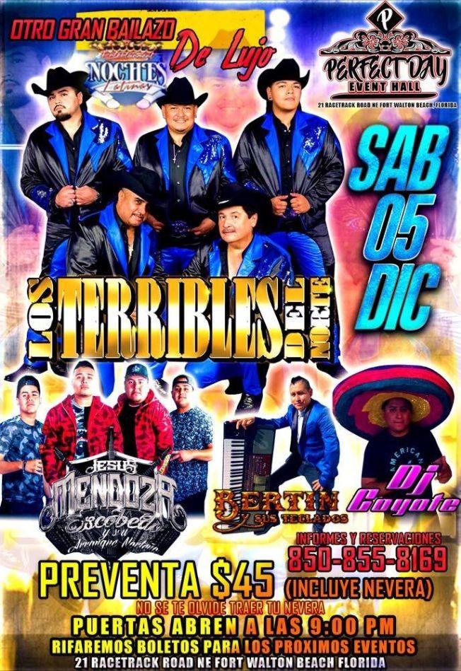 Flyer for Otro Bailazo de Lujo con Los Terribles del Norte, Jesus Mendoza Escobedo y Bertin y sus Teclados en Vivo!