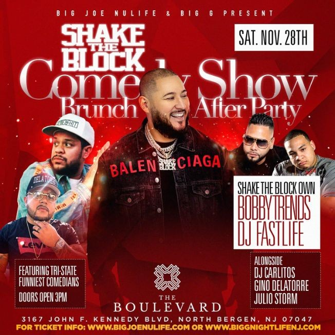 Flyer for Comedy Show Brunch Day Party DJ Bobby Trends Live At The Boulevard