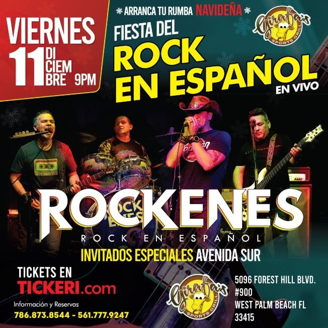 Flyer for Fiesta del Rock en Español