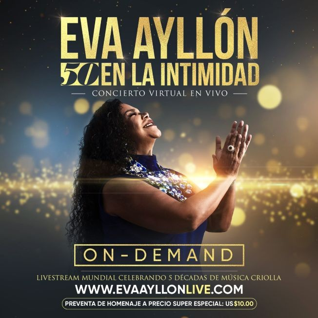 """Flyer for ON Demand: Eva Ayllon """"50 en la intimidad"""""""