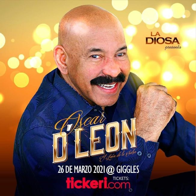 Flyer for OSCAR D' LEON EN LOS ANGELES NEW DATE CONFIRMED
