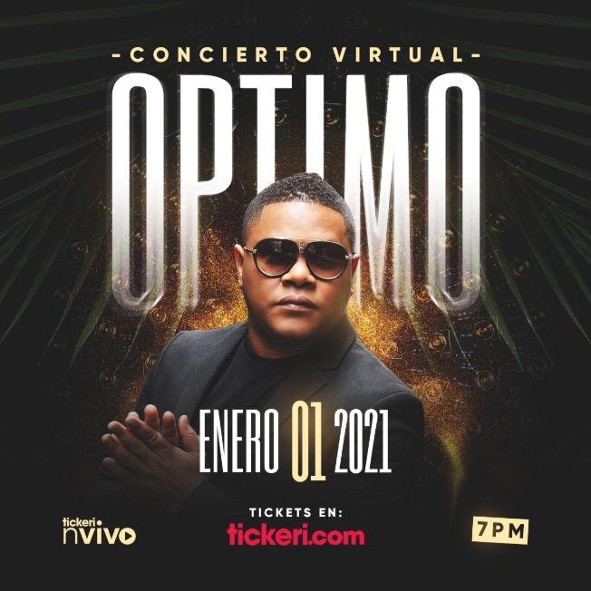 Flyer for Concierto Virtual de Año Nuevo con Optimo en Vivo!