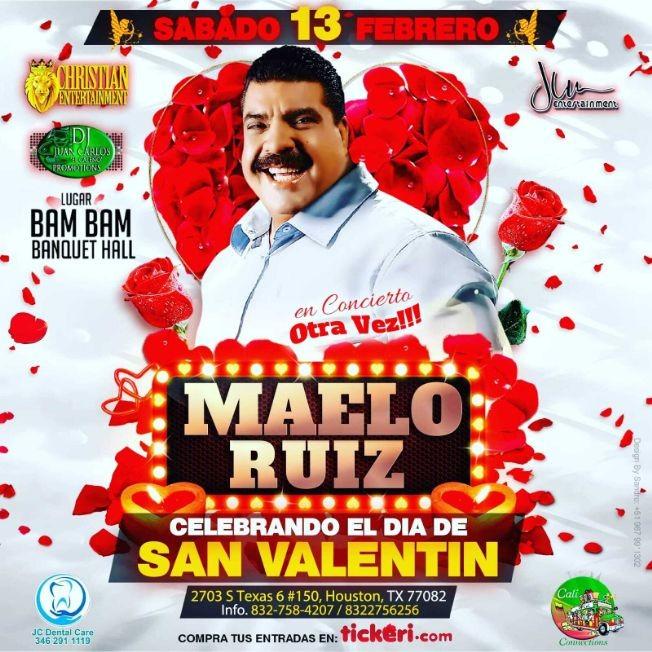 Flyer for Celebrando el Dia de San Valentin Maelo Ruiz en Concierto!