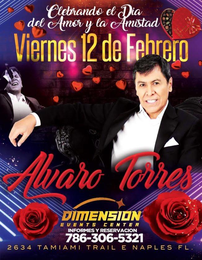 Flyer for Alvaro Torres en concierto POSTPUESTO