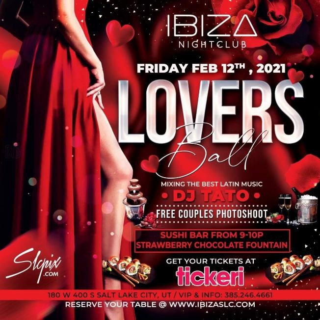 Flyer for Lovers Ball en Ibiza Night Club