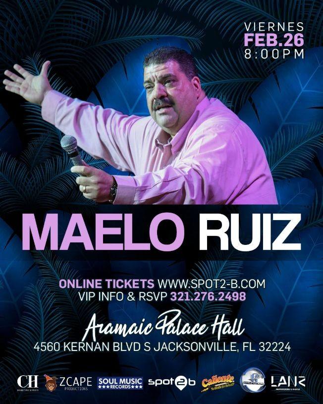 Flyer for TONIGHT Maelo Ruiz en concierto Jacksonville