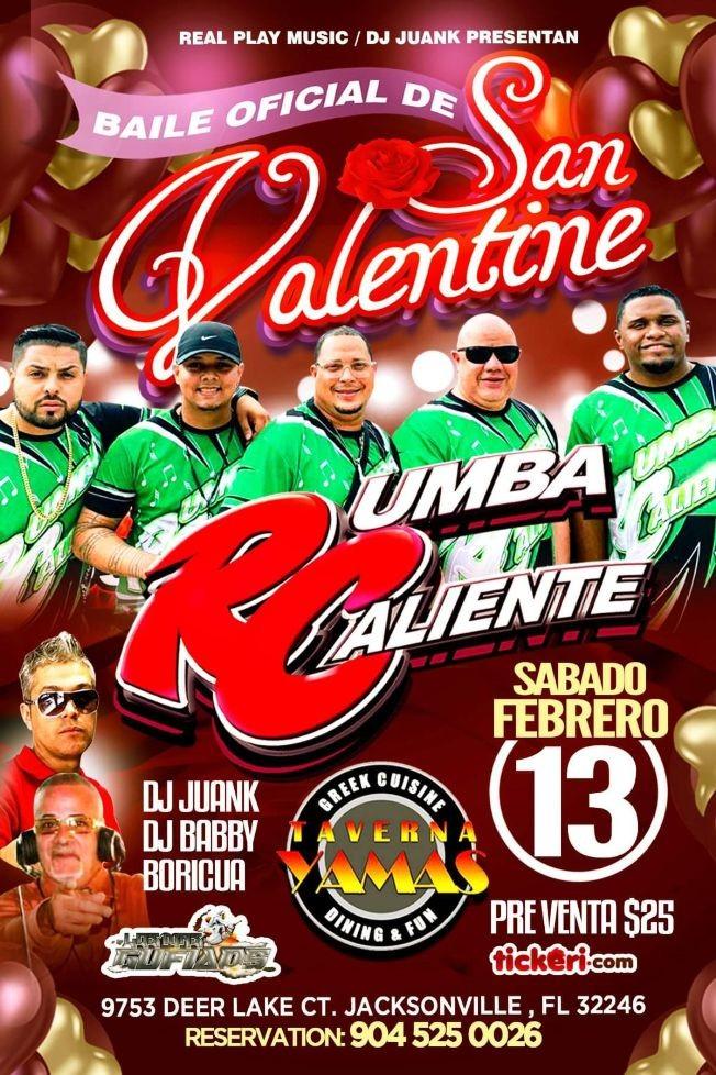 Flyer for RUMBA CALIENTE EN VIVO @ TAVERNA YAMAS JAX
