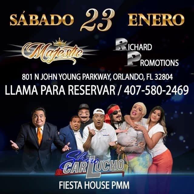 Flyer for El Show de Carlucho y Univista TV