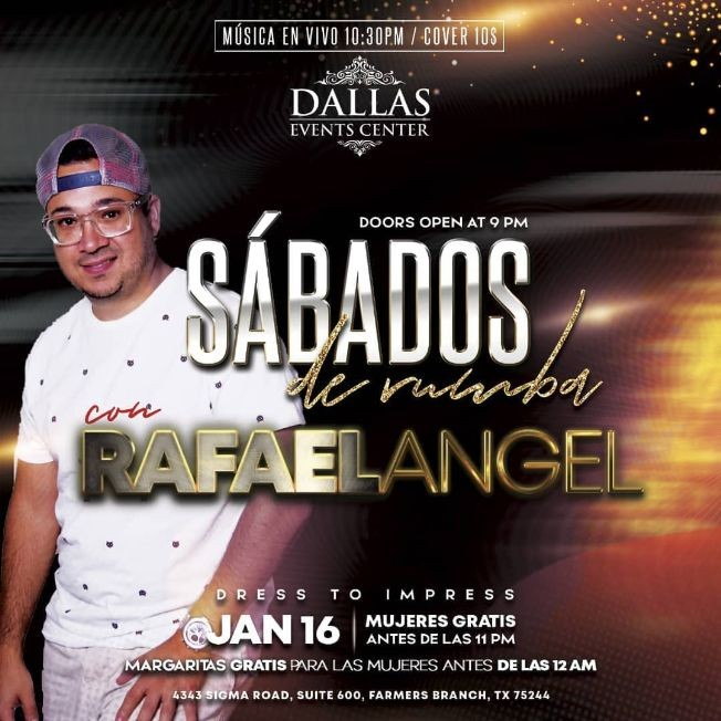Flyer for Sabado de Rumba con el Grupo de Rafael Angel