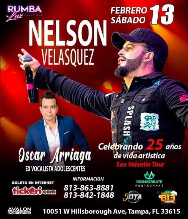 "Flyer for NELSON VELASQUEZ EN TAMPA ""VALENTINES TOUR"""