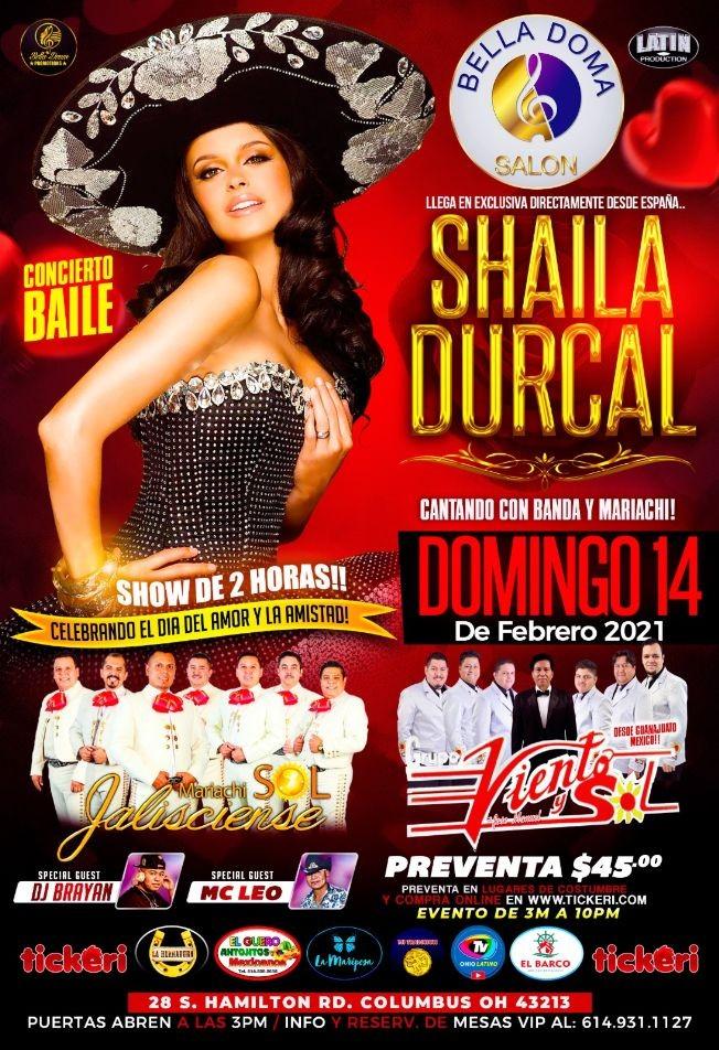 Flyer for SHAILA DÚRCAL CONCIERTO BAILE