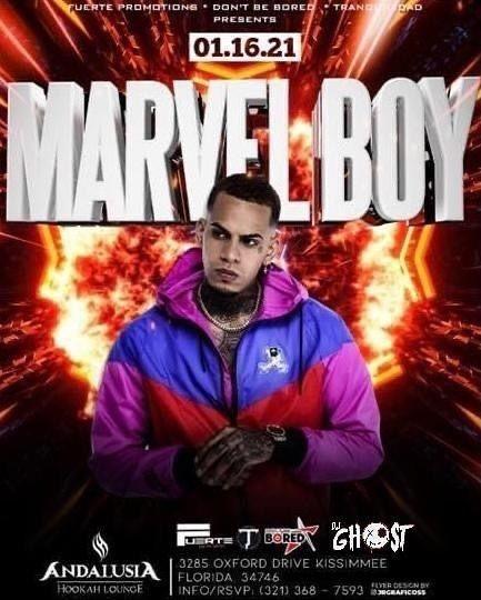 Flyer for Marvel Boy en Concierto!